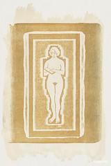 Naakt met boek of stenen plaat in de hand (1924) by Samuel Jessurun de Mesquita. Original from The Rijksmuseum. Digitally enhanced by rawpixel.