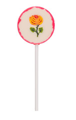 Round lollipop with flower