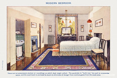 Modern bedroom from Mrs. Beeton's Book of Household Management. Digitally enhanced from our own 1923 edition.
