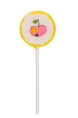 Apple lollipop on white background