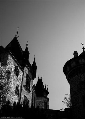 Burg-Schattenrisse