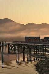 When the sun rises over the bay | Lever de soleil sur la baie