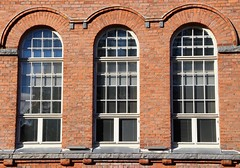 Windowpanes,,, brick wall.