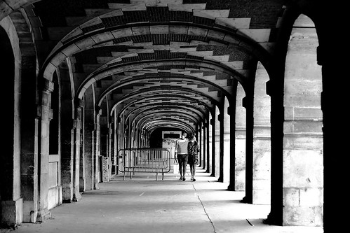 Under the vaulted ceiling