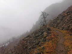 Rallarveien i tåke