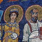 Apse mosaic detail, 5thC, Basilica di Santa Cecilia in Trastevere, Rome. - https://www.flickr.com/people/11200205@N02/