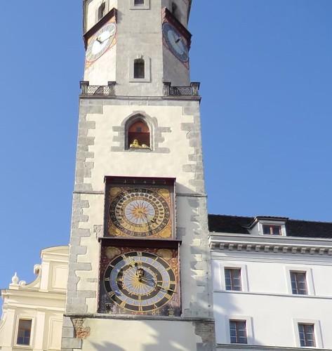 The clock face of Görlitz Town Hall