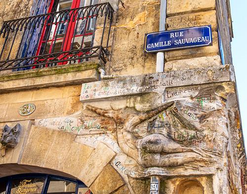 Fresque au coin de la rue Sauvageau
