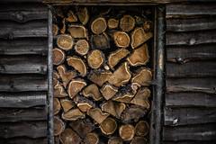 framed wood shelter