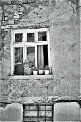 Konya Window in b&w