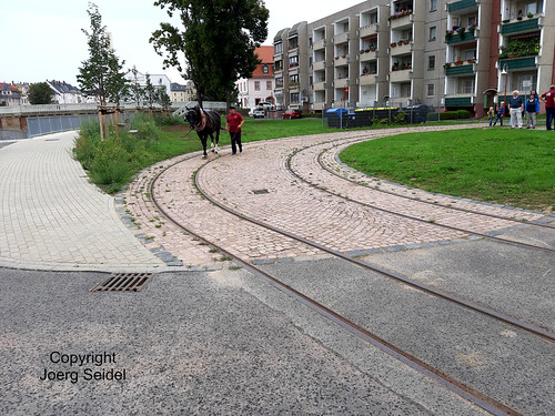 DE-04720 Döbeln Pferdebahngleise  im September 2020