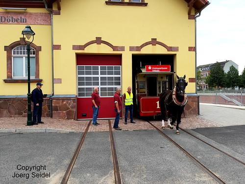 DE-04720 Döbeln/Sachsen  Pferdebahndepot im September 2020