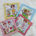 """Quilted Coasters (4) set #1   $35   Lady Golfers.  4.25"""" square.  Click here for more info"""