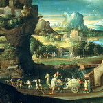 Girolamo da Carpi, Landschaft mit Zauberern -Landscape with Magicians -  Paesaggio con corte magico - https://www.flickr.com/people/44884174@N08/