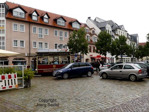 DE-04720 Döbeln Pferdebahn im Straßenverkehr  im September 2020