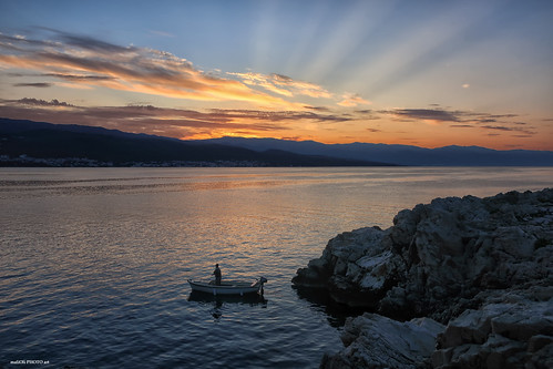 Fishing with first sun rays