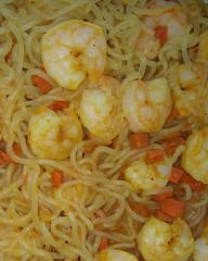 Tajin Shrimp over Japanese Curry Shirataki Konjac Noodles