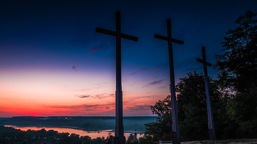 Twilight on the Hill of Three Crosses