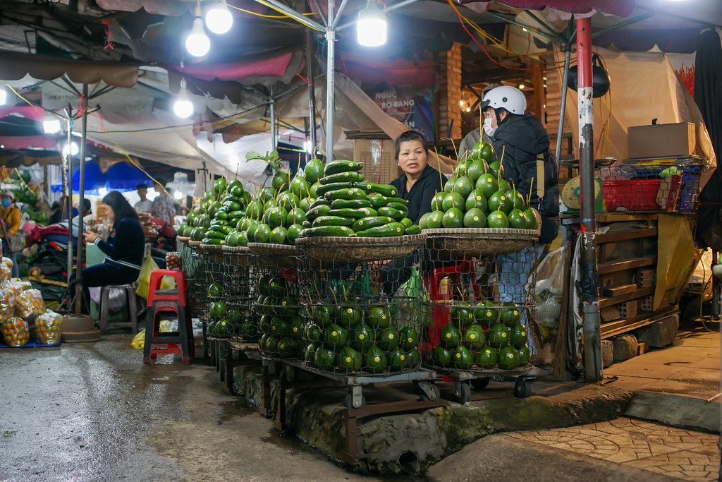 Different kinds of Avocado offered at the Night Market of Dalat, Vietnam
