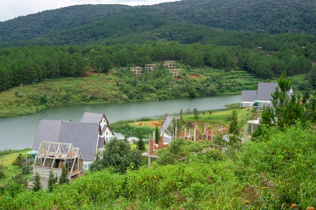 Construction Site at a Resort at Tuyen Lam Lake in Dalat, Vietnam