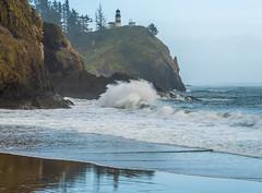Wild Washington Coast Sunset Cape Disappointment Lighthouse Breaking Storm High Waves Big Surf Backwash Seascape Ocean Art! Fuji GFX100 Fine Art Landscape Nature Photography! Master Medium Format Photographer Fuji GFX 100 & Fujinon Fujifilm GF Lens!