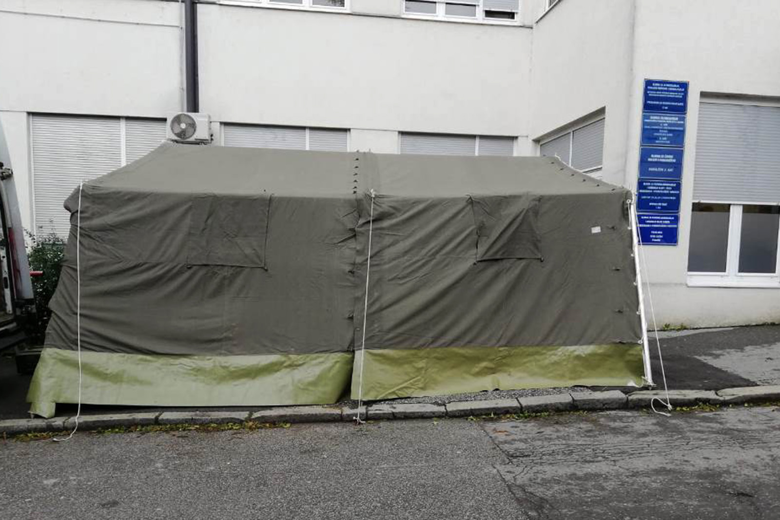 Hrvatska vojska u Zagrebu postavila dodatne šatore