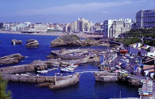Allée Port des Pêcheurs, Biarritz. Slide from 1979