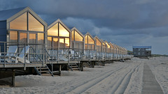 Julianadorp beach: sunset reflection