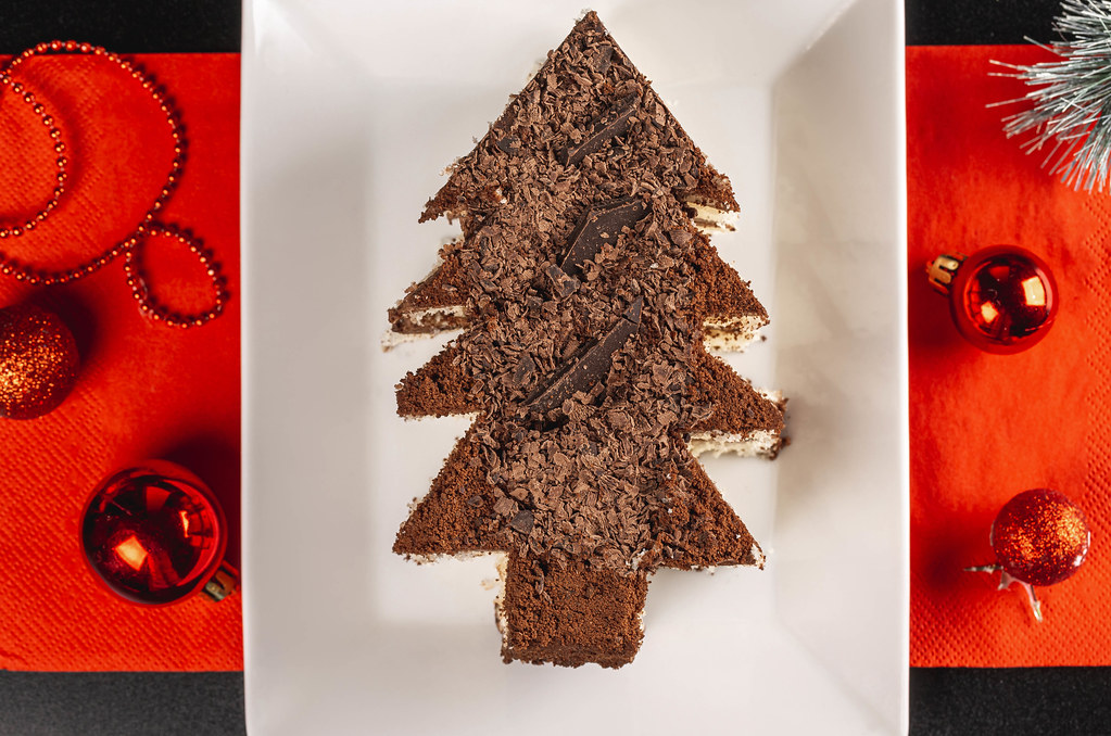 Sweet homemade Christmas or winter holidays pastry food concept