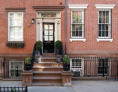 Federal style row houses (1832-33) on Washington Place (Nos. 112 &114), Greenwich Village, New York