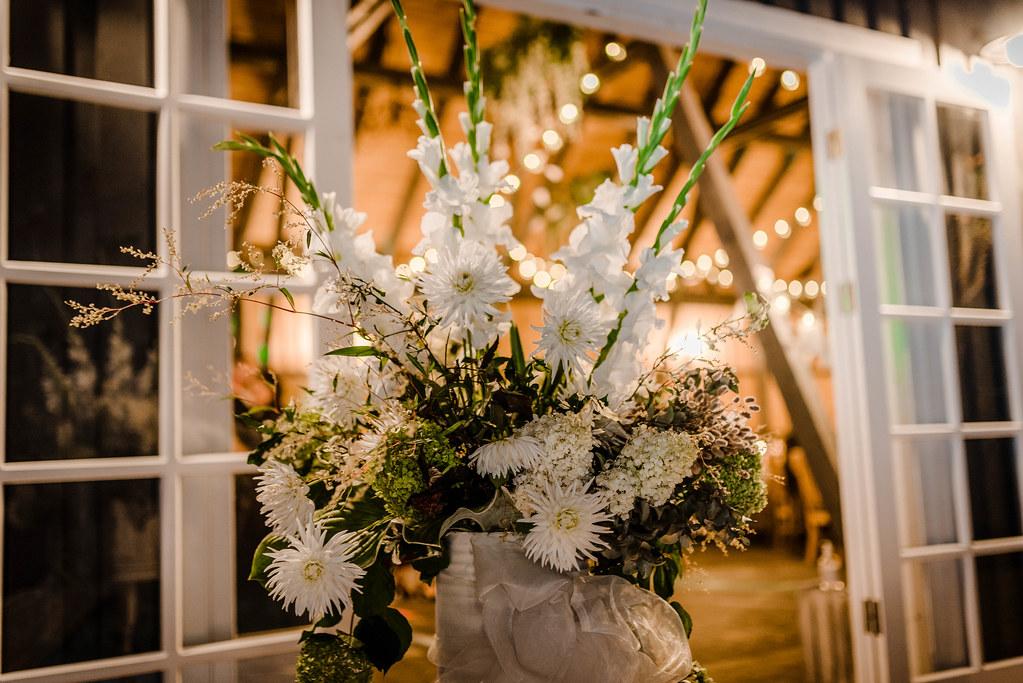 Gladiolus Wedding Decor Outdoors Romantic Lights