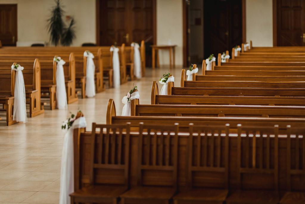 Wedding Decors Inside Of A Big Church