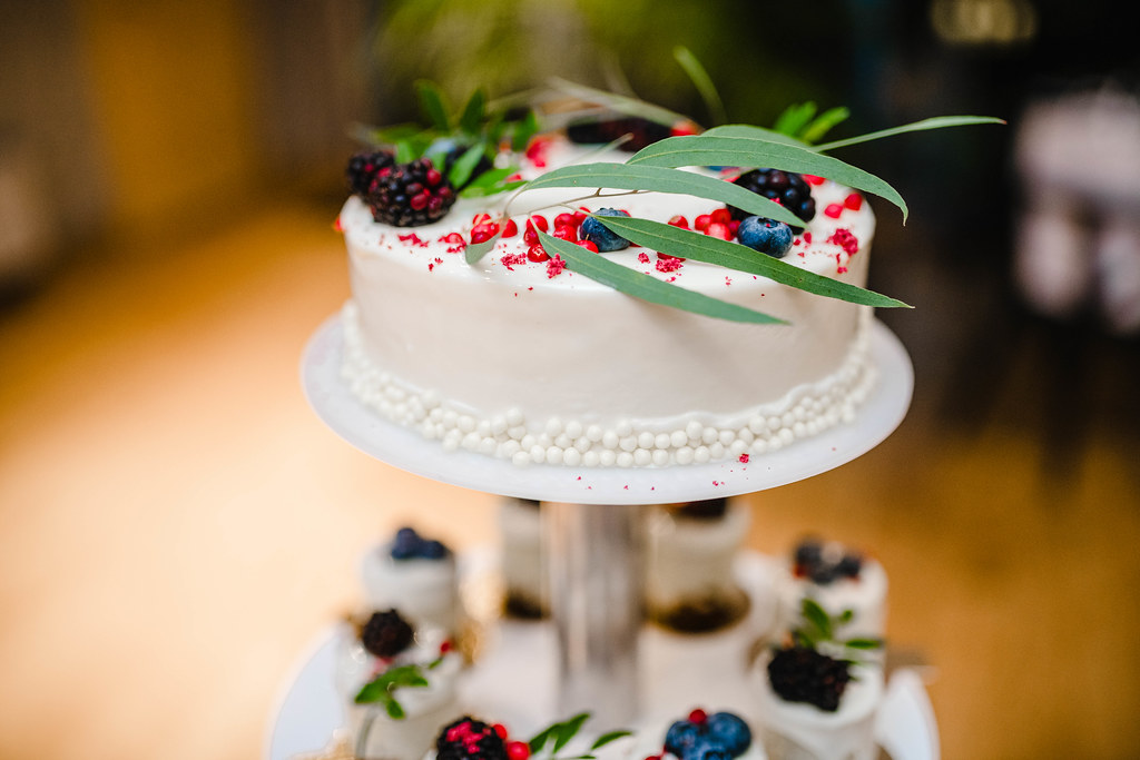 Top Of The Wedding Cheese Cake With Berries