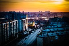 my city at dawn