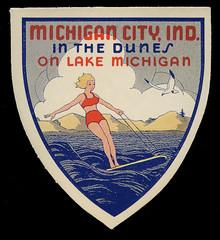 Michigan City, Indiana, in the Dunes, circa 1940s - Michigan City, Indiana
