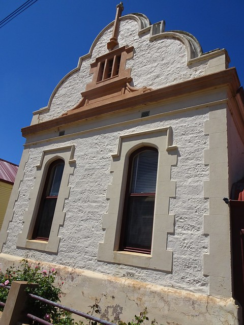 Photo:Quorn South Australia. This Dutch gable adorns the old English Scottish and Australian bank which was built in 1881. It is now a fine little cafe. By denisbin