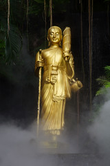 Buddha in the steam room