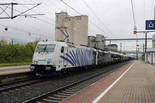 185661-x LM & 193657-4 DISPO pass Kirchbichl in Tirol Bahnhof Austria 150519