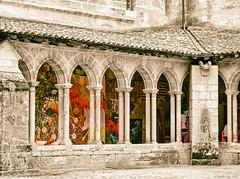 Cloître de la Collégiale de Saint Emilion - Version Désat' et Sépia