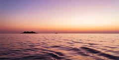 Dark gold seascape