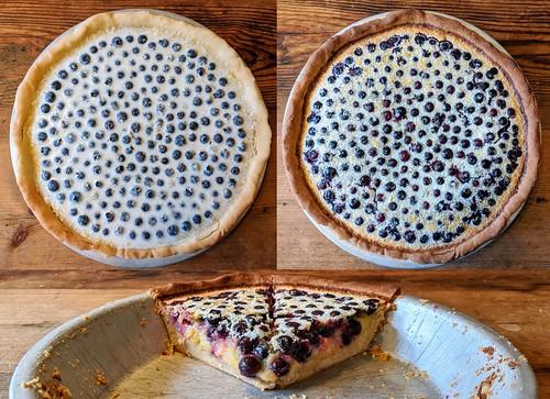 Lemon-blueberry tart