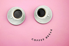 Cute smiling coffee face