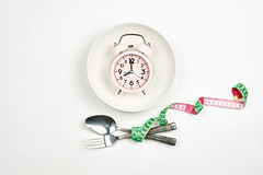 Time to control weight. Diet or healthy food concept