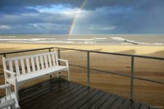Julianadorp beach: rainbow view
