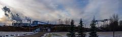 Pulp mill in Whitecourt, Alberta