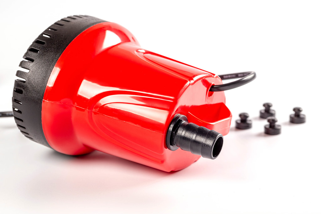 Water pump for aquariums on white background
