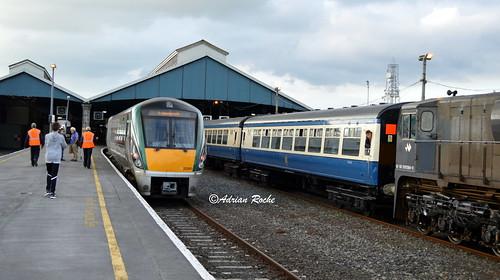 Irish Rail 22060 & RPSI Western Explorer Limerick Colbert Railway Station.