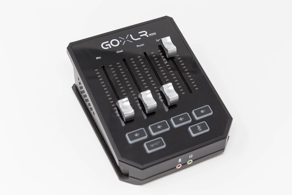 Podcast equipment: TC-Helicon Go XLR Mini. Online broadcast mixer for live streaming, content creation