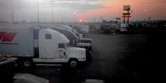 Sunset at Truck Stop in West Memphis, Arkansas