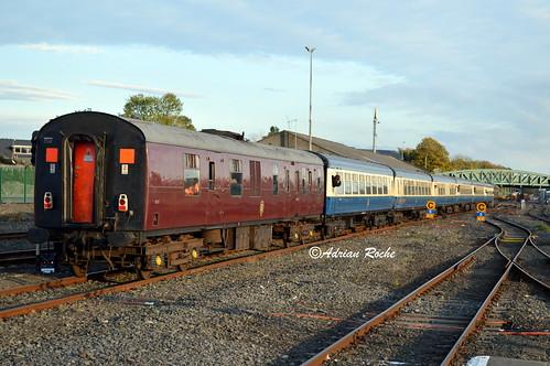 Irish Rail GM 084 & RPSI Western Explorer Departing Limerick Colbert Railway Station.